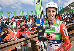 Primoz Pikl (SLO) at Flying Hill Team in 3rd day of 32nd World Cup Competition of FIS World Cup Ski Jumping Final in Planica, Slovenia, on March 21, 2009. (Photo by Vid Ponikvar / Sportida)