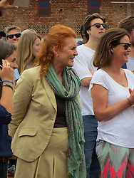 BEST QUALITY AVAILABLE The Duchess of York, Sarah Ferguson, visits Kicukiro district in Kigali to see Rwandans building a school as they take part in umuganda, which happens on the last Saturday of every month when people come together to carry out community work. The Duchess later attended the official opening of a new cricket stadium in the city.