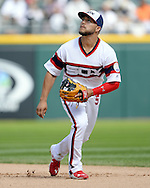 CHICAGO - AUGUST 21:  Carlos Sanchez #5 of the Chicago White Sox fields against the Oakland Athletics on August 21, 2016 at U.S. Cellular Field in Chicago, Illinois.  The White Sox defeated the Athletics 4-2.  (Photo by Ron Vesely)   Subject:   Carlos Sanchez