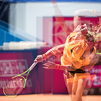 GSTAAD, SWITZERLAND JULY 20: Kiki Bertens (NED) during the WTA Ladies Championship Gstaad. (Robert Hradil/RvS.Media)