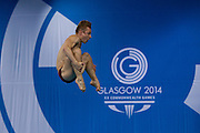 Mcc0055084 . Daily Telegraph<br /> <br /> England's Jack Laugher diving in the Men's 3m Springboard at the Royal Commonwealth Pool in Edinburgh on Day 8 of the 2014 Commonwealth Games .
