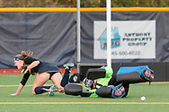 Pleasantville, New York - Pace University plays Assumption College in a Northeast-10 Conference field hockey playoff game on Oct. 31, 2017.