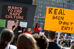 September 29, 2018 - Philadelphia, Pennsylvania, U.S. - Protestors take part in the March to End Rape Culture, an annual event in Philadelphia. By coincidence, the march was scheduled two days after the U.S. Senate held a hearing to investigate sexual assault charges against Supreme Court nominee. (Credit Image: © Michael Candelori/ZUMA Wire)