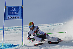 27.10.2013, Rettenbach Ferner, Soelden, AUT, FIS Weltcup, Ski Alpin, Riesenslalom, Herren, 1. Durchgang, im Bild Marcel Hirscher from Austria // Marcel Hirscher from Austria in action during 1st run of mens Giant Slalom of the FIS Ski Alpine Worldcup opening at the Rettenbachferner in Soelden, Austria on 2012/10/27. EXPA Pictures © 2013, PhotoCredit: EXPA/ Mitchell Gunn<br /> <br /> *****ATTENTION - OUT of GBR*****