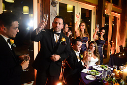 """EXCLUSIVE: 'Jersey Shore' alum, Deena Cortese reunited with her Jersey Shore castmates on Saturday as they showed up to celebrate with her and Chris Buckner. The Shore-studded wedding in Cortese's hometown of New Egypt, N.J. included guests Nicole """"Snooki"""" Polizzi, Jenni """"JWoww"""" Farley, Vinny Guadagnino, Paul """"DJ Pauly D"""" DelVecchio, Sammi """"Sweetheart"""" Giancola and Mike """"The Situation"""" Sorrentino. 28 Oct 2017 Pictured: Deena Cortese, Chris Buckner,. Photo credit: Aaron Showalter / MEGA TheMegaAgency.com +1 888 505 6342"""