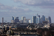 Views of the city of Paris taken from the towers of Notre Dame - this is La Defense, the city's business district, out to the west.