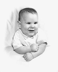 1960's photograph of an adorable baby boy