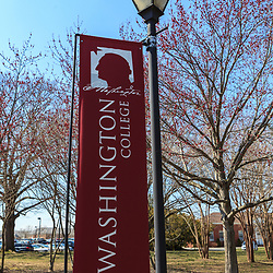 Chestertown, MD, USA - March 30, 2013:A Banner at Washington College in Chestertown Maryland