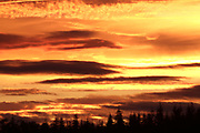 Sunrise clouds with altocumulus and altostratus cloud patterns over Inverness, Inverness-shire, Highland.