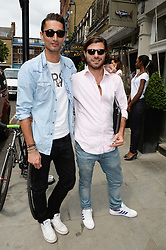 Left to right, HUGO TAYLOR and NICK DELLAPORTAS at the Glamorous Girls Summer Sale and Park Walk Street Party, Park Walk, London SW10 on 27th June 2013.