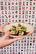 "Mom's ""mostly cabbage, a little bit of pork"" dumplings, sacha soy dressing at Ho Lee Fook restaurant, Central, Hong Kong"