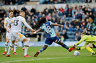 Wycombe Wanderers Dan Rowe(18) comes close to scoring during the EFL Sky Bet League 2 match between Wycombe Wanderers and Port Vale at Adams Park, High Wycombe, England on 24 March 2018. Picture by Alistair Wilson.