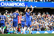 Chelsea defender John Terry (26) is substituted in the 26th minute during the Premier League match between Chelsea and Sunderland at Stamford Bridge, London, England on 21 May 2017. Photo by John Potts.