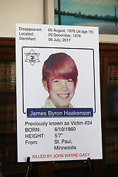 July 19, 2017 - Chicago, IL, USA - Sheriff Tom Dart and Detective Sergeant Jason Moran announce on Wednesday, July 19, 2017, in Chicago, the identification of one more victim of John Wayne Gacy, James Byron Haakenson of Minnesota. (Credit Image: © Nancy Stone/TNS via ZUMA Wire)