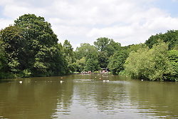 Mixed bathing pool, Hampstead Heath, London UK