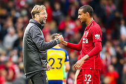 Liverpool manager Jurgen Klopp celebrates victory over Southampton with Joel Matip of Liverpool - Mandatory by-line: Robbie Stephenson/JMP - 22/09/2018 - FOOTBALL - Anfield - Liverpool, England - Liverpool v Southampton - Premier League