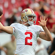 San Francisco 49ers quarterback Colt McCoy (2) is seen during an NFL football game between the San Francisco 49ers  and the Tampa Bay Buccaneers on Sunday, December 15, 2013 at Raymond James Stadium in Tampa, Florida.. (Photo/Alex Menendez)