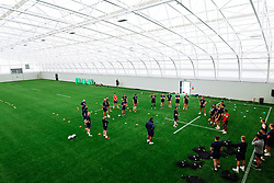 Omar Mouneimne (Defence Coach) takes a session as Bristol Bears start to use their new almost completed Training centre - Rogan/JMP - 08/07/2020 - RUGBY UNION - Beggar Bush Lane - Bristol, England.