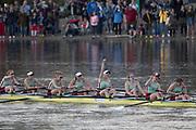 Mortlake/Chiswick, GREATER LONDON. United Kingdom. Women's Boat Race  the Championship Course, <br />  Putney to Mortlake on the River Thames. <br /> <br /> Sunday  02/04/2017<br /> <br /> [Mandatory Credit; Peter SPURRIER/Intersport Images]