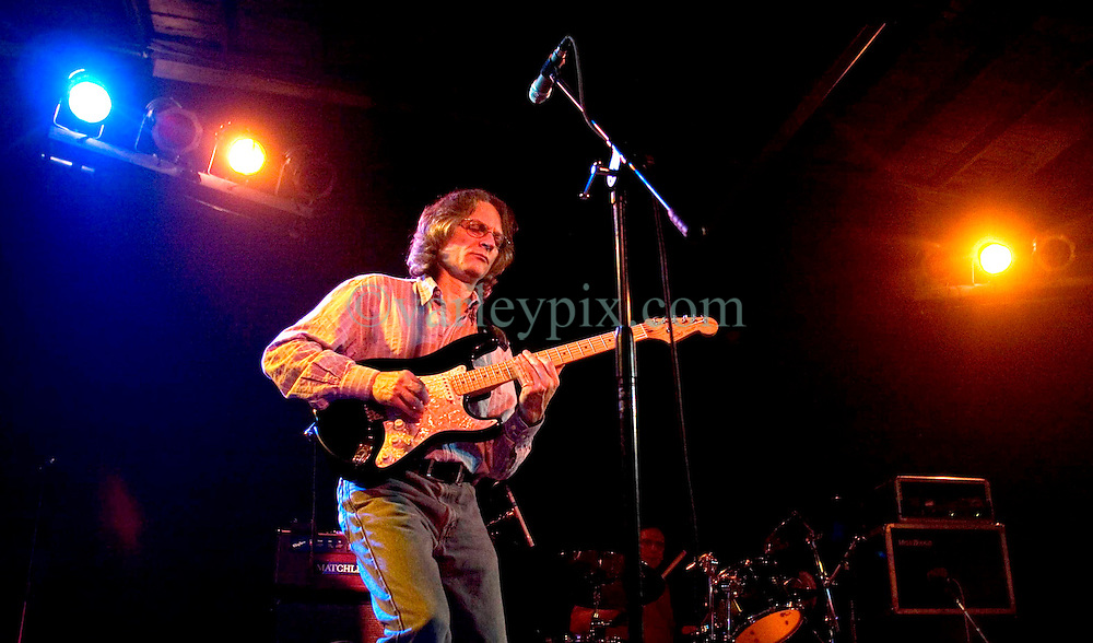 10 December 05.  New Orleans, Louisiana.  <br /> Legendary guitarist Sonny Landreth performs a set at Southport Hall in Uptown New Orleans. <br /> Photo; ©Charlie Varley/varleypix.com
