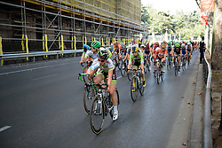 Peloton seem unconcerned by the break at Madrid Challenge by La Vuelta an 87km road race in Madrid, Spain on 11th September 2016.