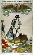 NapoleonI (Napoleon Bonaparte 1769-1821) in exile on St Helena. 19th century French popular print.