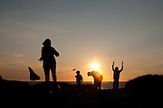 Porthtowan kite flyers