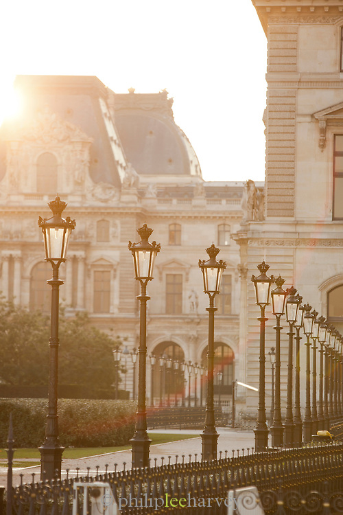 The Louvre Palace in the centre of Paris, France