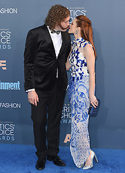 Stars attend the 22nd Annual Critics Choice Awards in Santa Monica, California. 11 Dec 2016 Pictured: T.J. Miller, Kate Gorney. Photo credit: Bauer Griffin / MEGA TheMegaAgency.com +1 888 505 6342