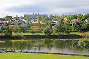 View over River Nidelva towards Norwegian University of Science and Technology, Trondheim, Norway