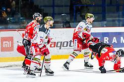 29.02.2020, Ice Rink, Znojmo, CZE, EBEL, HC Orli Znojmo vs HCB Suedtirol Alperia, Viertelfinale, 3. Spiel, im Bild v.l. Tomas Svoboda (HC Orli Znojmo) Timothy Daly (HCB Sudtirol Alperia) Dennis Robertson (HCB Sudtirol Alperia) Robert Flick (HC Orli Znojmo) // during the Erste Bank Eishockey League 3rd quarterfinal match between HC Orli Znojmo and HCB Suedtirol Alperia at the Ice Rink in Znojmo, Czech Republic on 2020/02/29. EXPA Pictures © 2020, PhotoCredit: EXPA/ Rostislav Pfeffer