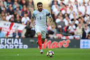 Kyle Walker of England dribbling during the FIFA World Cup Qualifier group stage match between England and Lithuania at Wembley Stadium, London, England on 26 March 2017. Photo by Matthew Redman.