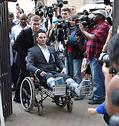 Day of Verdict In The Trial Of Oscar Pistorius<br /> <br /> Oscar Pistorius's brother Carl Pistorius arrives in North Gauteng High Court on September 11, 2014 in Pretoria, South Africa. <br /> <br /> Judge Thokozile Masipa will deliver judgment on Oscar Pistorius for the murder of his girlfriend, model Reeva Steenkamp <br /> <br /> ©Exclusivepix