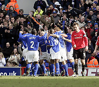 Richard Naylor celebrates after scoring.<br /> Ipswich Town v Nottingham Forest. Coca Cola Championship. 12/03/05. Picture by Barry Bland