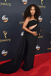Kerry Washington attends the 68th Annual Primetime Emmy Awards at Microsoft Theater on September 18, 2016 in Los Angeles, California. Photo by Lionel Hahn/ABACAPRESS.COM