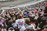 NASCAR fans watch a race at Bristol Motor Speedway in Tennessee on March 18, 2012
