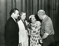 1936 George Raft, June Lang, Gloria Swanson & CB DeMille at CBS Radio Playhouse on Vine St.