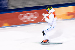 February 12, 2018 - Pyeongchang, SOUTH KOREA - 180212 Felix Elofsson of Sweden competes in the men's moguls final during day three of the 2018 Winter Olympics on February 12, 2018 in Pyeongchang..Photo: Carl Sandin / BILDBYRÃ…N / kod CS / 57999_286 (Credit Image: © Carl Sandin/Bildbyran via ZUMA Press)
