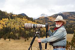 Gene Coons portrait, Vermejo Park Ranch, New Mexico, USA.