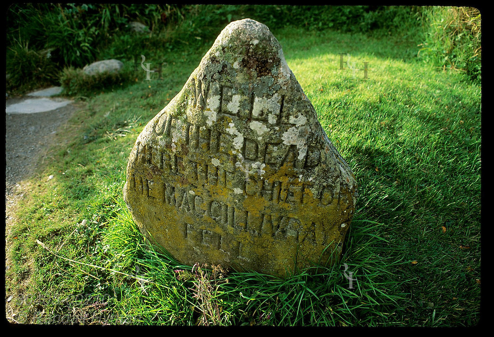 Well of the Dead where Alexander MacGillivray died leading Clan Chattans across Redcoat line on Apr 16, 1746; Culloden Moor, Scotland