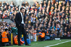 Fulham manager Slavisa Jokanovic stands watching the match - Mandatory by-line: Jason Brown/JMP - 19/02/2017 - FOOTBALL - Craven Cottage - Fulham, England - Fulham v Tottenham Hotspur - Emirates FA Cup fifth round