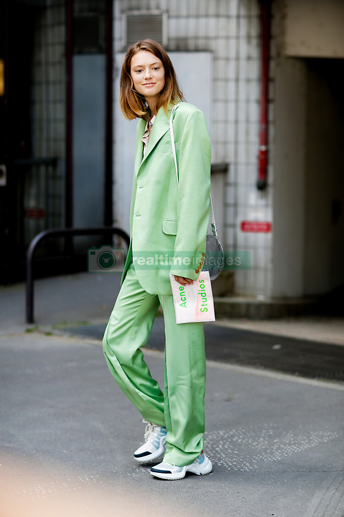 Street style, Emmy Rappe arriving at Acne Spring-Summer 2019 menswear show held at Bercy Popb, in Paris, France, on June 20th, 2018. Photo by Marie-Paola Bertrand-Hillion/ABACAPRESS.COM