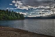 Holly Bay and the Hood Canal on the Kitsap Peninsula of Puget Sound, Washington USA