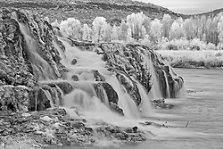 Fall Creek Falls, Black and White, Swan Valley Idaho.
