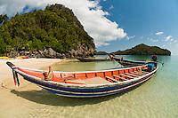 Ko Wua Talap, one of the islands in the Angthong National Marine Park (42 limestone islands) near Koh Samui (island), Gulf of Thailand, Thailand
