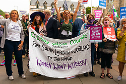 Edinburgh, Scotland, UK. 2nd September 2021.Demonstration supporting women's rights held outside The Scottish Parliament at Holyrood in Edinburgh today. Protesters believe that the definition of a women is under threat from Scottish Government law that would give trans-women the same rights as women. The slogan Women Won't Wheesht has been adopted to promote their movement.  A counter demonstration was also held by proponents of trans people's rights. Insults were exchanged between both groups. Iain Masterton/Alamy Live News.