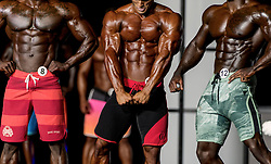 September 15, 2018 - Las Vegas, Nevada, U.S. -  Competitors in Men's Physique Olympia during Joe Weider's Olympia Fitness and Performance Weekend 2018.(Credit Image: © Brian Cahn/ZUMA Wire)