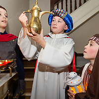 Ryan Fox with Alex and Ethan Jordan in the 2018 Barefield Christmas Nativity on Sunday evening