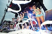 Photos of mash up artist Gregg Gillis, AKA Girl Talk, performing at the Bamboozle Music Festival on May 2, 2010.
