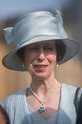 The Princess Royal during a garden party at Buckingham Palace in London.